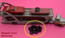 DINKY TOYS 39A : UNIC BOILOT TRANSPORTEUR DE VOITURES 8 pneus noir 20x8 / tyres