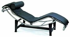 Le Corbusier Leather Chaise Lounge Chair in black PU leather #1184