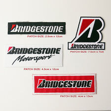 BRIDGESTONE TYRES Team Sponsorship Patch Set of FOUR Patches - FREE POST