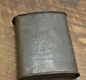 L556- ANTIQUE TIN MINERS CARBIDE BOX HAZLETINWARE MFG CO W. HAZLETON PA 1926
