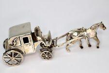 Silber Figur 925 er Kutsche mit Pferd carriage with horse Medusa-Oro gepunzt
