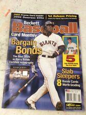 Beckett Baseball Magazine Monthly Price Guide June 2002 Barry Bonds
