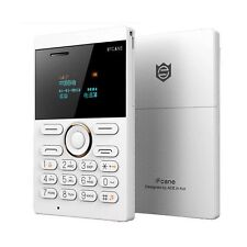 New Mini Mobile Card Size Smallest Cell Phone GSM Unlocked Bluetooth MP3 White