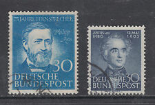 Germany Sc 693, 695 used 1952 & 1953 commemoratives, 2 complete sets, VF