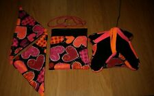 (NEON HEARTS!!) Sugar Glider  Pouch / Sleeping Hammock & 2 corner hammocks