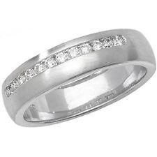 Wedding Band White Gold I1 Fine Diamond Rings