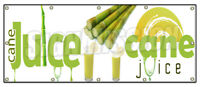 SUGAR CANE JUICE BANNER SIGN fresh drinks cold ice soda water