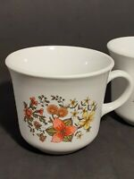 "Corelle by Corning ""Indian Summer"" Coffee/Tea Cups/Mugs EUC set of 2 vintage"