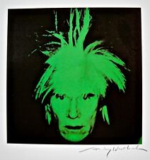 "ANDY WARHOL ""Green Self-Portrait"" 1986 Hand Signed Print"