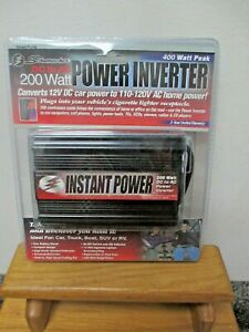 NEW! Schumacher DC to AC 200 Watt Power Inverter Model P1-200! FREE Shipping!