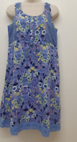 NEW RRP £49 Ex Debenhams mantaray blue Floral Printed Dress               (SS60)