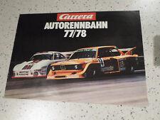 CARRERA Autorennbahn Katalog Prospekt 1977/1978 77/78