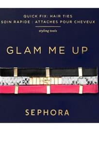 SEPHORA COLLECTION GLAM ME UP Quick Fix Hair Ties LIMITED ED. ~ STYLISH Set of 3