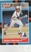 FREE SHIPPING-MINT-1988 Donruss Montreal Expos Baseball Cd #282 Andres Galarraga