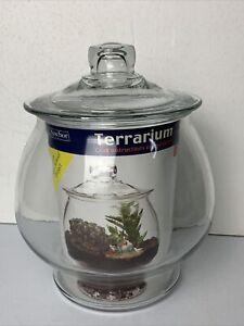 Anchor Hocking Clear Glass Gold Fish Bowl Aquarium Terrarium 1 Gallon Tank