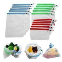 Wiederverwendbare Taschen Mesh Gemüse Obst Spielzeug Vorratsbehälter Beutel V4P5