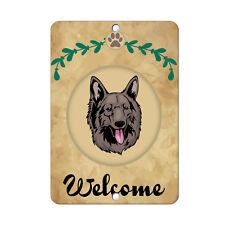 Welcome Shiloh Shepherd Dog Dog Metal Sign - 8 In x 12 In