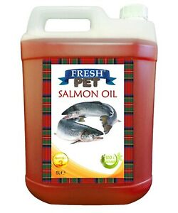 Salmon Oil Dogs Cats & Ferrets 100% Pure Rich in Omega 3 5L W/ Pump Fresh Pet