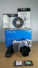 MINOLTA DIMAGE 5 7X OPTICAL ZOOM DIGITAL CAMERA WITH FLASH CARDS