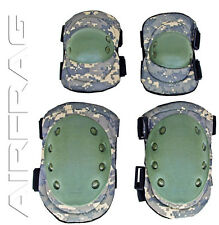 Advanced Tactical Flexible Airsoft Knee and Elbow Pads Water Resistant Digi Camo