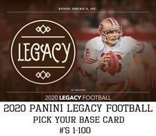 2020 Panini Legacy - Base Card (#'s 1-100) - Pick Your Card - Free Ship