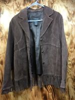 Outbrook Leather Jacket Ladies L Brown Sable color