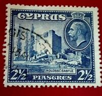 Cyprus:1934 Landscapes and Buildings 2½Pia Rare & Collectible stamp.