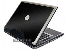 BLACK BRUSHED TEXTURED Vinyl Lid Skin Decal fits Dell Precision M90 M6300 Laptop
