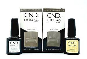 CND Shellac UV Base Coat + Top Coat 0.25 oz - DUO NIB AUTHENTIC