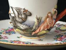 CAPODIMONTE Tasse à Café Sous Tasse Porcelaine