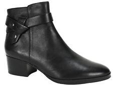 Via Spiga Women's Ophelia Ankle Boots Black Leather Size 11 M
