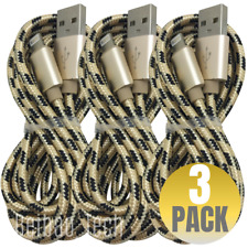 6Ft USB Lightning Cable Braided 3 Pack iPhone 11 XR 8 iPad Charger Charging Cord