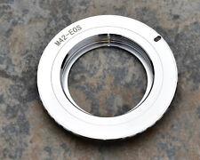 JingLu M42-EOS M42 Lens to EOS Chrome Brass Camera Adapter AF Chip (#1957)