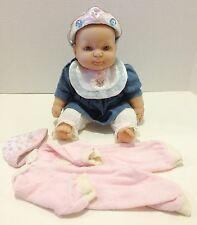 """BERENGUER 14"""" SOFT BODY AND VINYL DOLL WITH PURSED LIPS & STEEL BLUE EYES"""