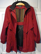 F S LIMITED RED Jacket w/Hood SMOOTH SOFT MICRO FIBER SHELL S SMALL