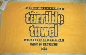 """PITTSBURGH STEELERS RARE TERRIBLE TOWEL 2018 """"BAND OF BROTHERS"""" MAURKICE POUNCEY"""