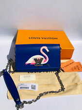 Auth Louis Vuitton Twist **SOLD OUT** Flamingo Birds wallet on chain Bag New