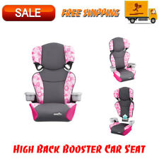 Evenflo Big Kid Sport High Back Booster Car Seat, Peony Playground, Safety Seats