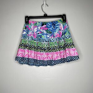Lilly Pulitzer Women's Luxletic Annora Floral Tennis Skirt Skort Size XXS