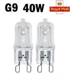 2 / 5 / 10 x G9 Halogen Light Bulbs Clear Capsule 240V 40W Watt