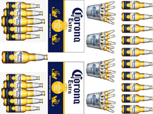 CORONA BEER BOTTLES INSPIRED CAKE TOPPERS EDIBLE ICING / WAFER