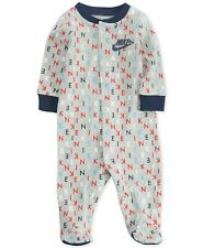 New Nike Baby Boys Logo Print Footed Coverall Size 6 Months