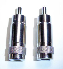 Two Hq Metal Rca Shorted Phono Plugs for Drake R4C Receivers for Pto Lamp + Mute