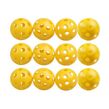 50 x Golf Tennis Practice Training Balls Plastic Whiffle Airflow Hollow Yellow
