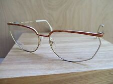 RODIER 162 gold brown tortoise vintage 80s eyeglass frames DEADSTOCK NEW