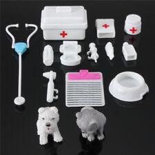 Dollhouse Accessories Miniature Vet Mini Pretend Play Veterinary Toys 14 PCS USA