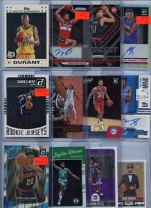 HUGE PREMIUM PATCH AUTO JERSEY PRIZM NBA BASKETBALL ROOKIE CARD COLLECTION LOT $