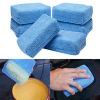Microfiber Car Washing Sponge Automobile Cleaning Cloths Car Wax Polishing PadFT