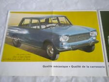 Fiat 1300 and 1500 car brochure French version