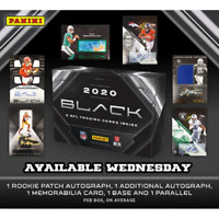 2020 PANINI BLACK FOOTBALL FACTORY SEALED HOBBY BOX IN STOCK FREE SHIPPING